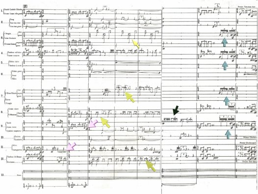 Image of the score focusing on Culmination of Elaborations