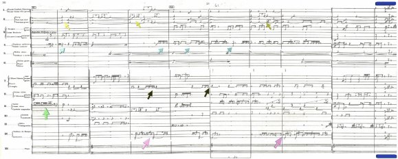 Image of the score focusing on Linear Elaborations Version 2